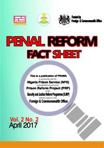 PENAL REFORM FACT-SHEET APRIL 2017